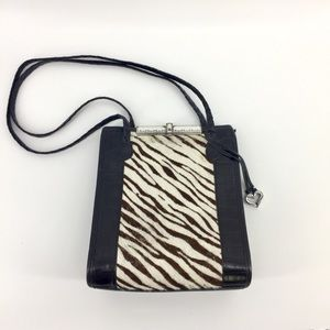 Brighton Shoulder Bag Calf Hair Leather Purse